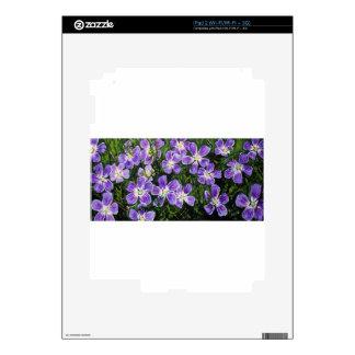 Purple flower design decal for iPad 2