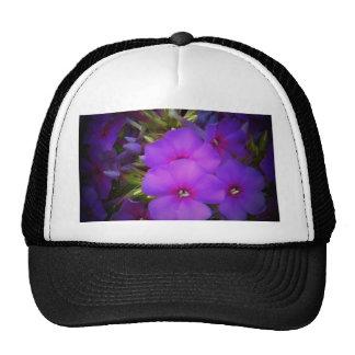 Purple Flower Design Trucker Hat