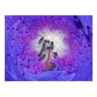 Purple Flower Distorted Postcard