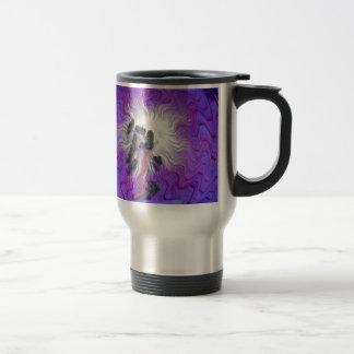 Purple Flower Distorted Travel Mug