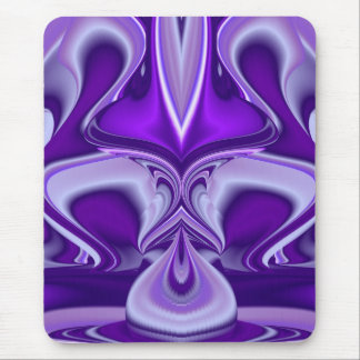 Purple Flower Dream , Abstract Fantasy Rainbow-Art Mouse Pad