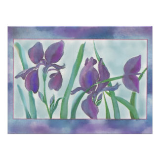 Purple Flower Dream Wedding Invitations