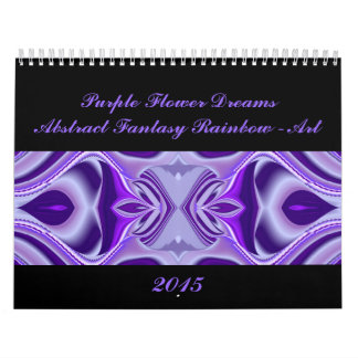 Purple Flower Dreams - Abstract Rainbow Art Calendar