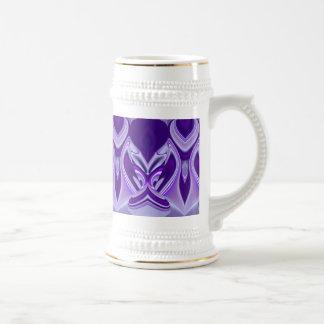 Purple Flower Dreams Beer Stein