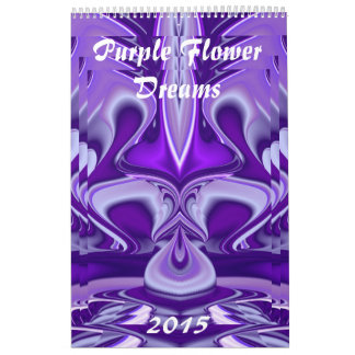 Purple Flower Dreams Calendar