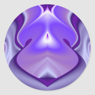 Purple Flower Dreams Classic Round Sticker