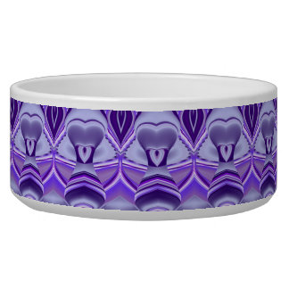 Purple Flower Dreams Dog Water Bowl