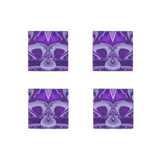 Purple Flower Dreams Stone Magnet