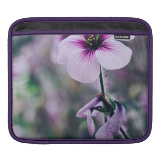Purple Flower, Elegant Floral Photograph Sleeve For iPads