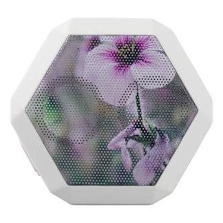 Purple Flower, Elegant Floral Photograph White Bluetooth Speaker