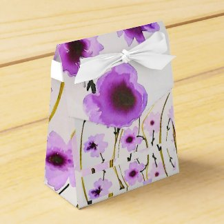 Purple flower Favor box