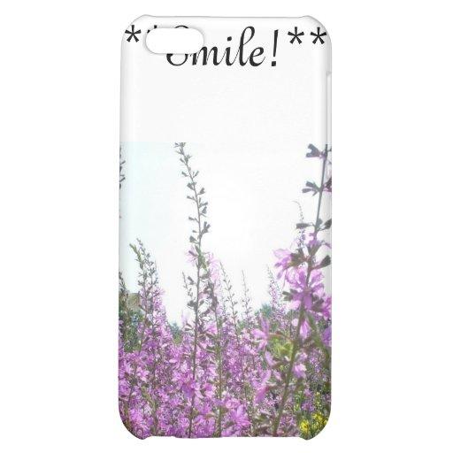Purple Flower field phone case iPhone 5C Cases