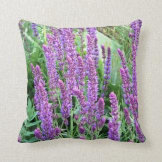 Purple flower fields salvia Romania pillow