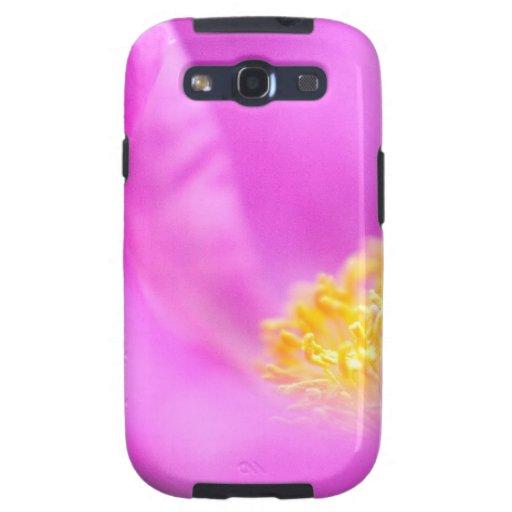 Purple flower, floral art print galaxy SIII cover