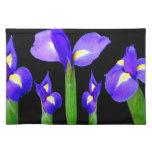 Purple Flower Floral Bouquet Elegant Romantic gift Cloth Place Mat
