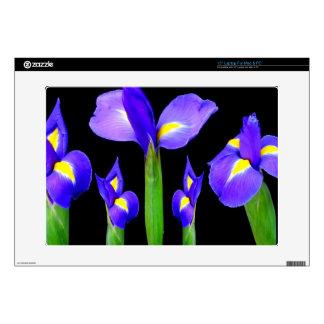Purple Flower Floral Bouquet Elegant Romantic gift Decal For Laptop