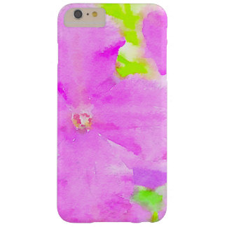 Purple Flower Floral Watercolor Background Barely There iPhone 6 Plus Case
