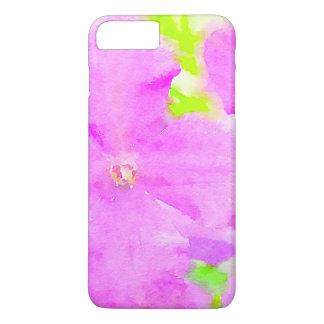 Purple Flower Floral Watercolor Background iPhone 8 Plus/7 Plus Case