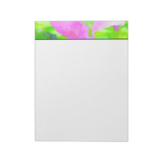 Purple Flower Floral Watercolor Background Notepad