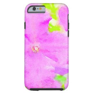 Purple Flower Floral Watercolor Background Tough iPhone 6 Case