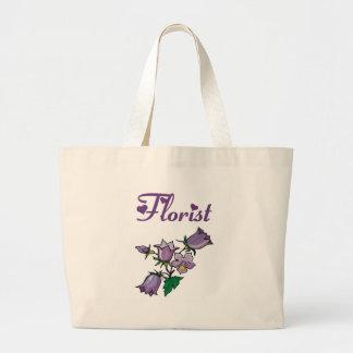 Purple Flower Florist Tote Bag