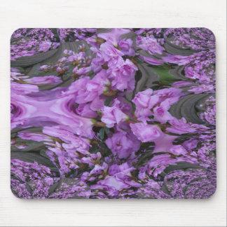 Purple Flower Fractal Mouse Pad