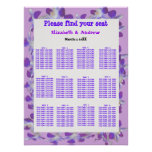 purple flower frame seating charts
