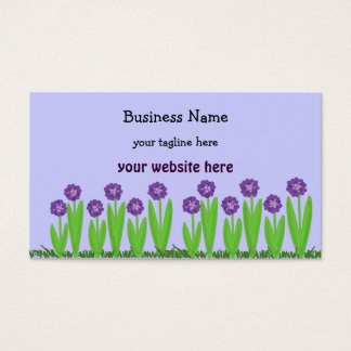 Purple Flower Garden Business Card