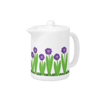Purple Flower Garden Teapot