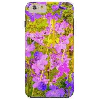 Purple Flower Garden Tough iPhone 6 Plus Case