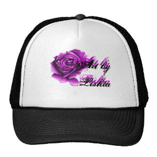 Purple Flower Girl Hat