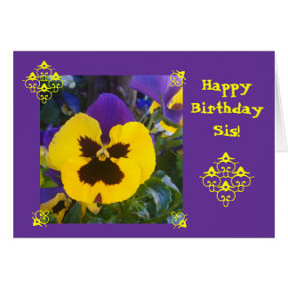 Purple flower: Happy B-day! Greeting Card