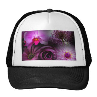 Purple Flower Trucker Hat