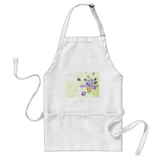Purple Flower Hearts Aprons
