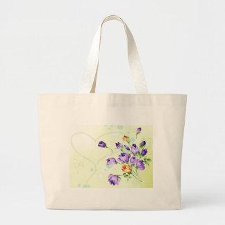 Purple Flower Hearts Bags