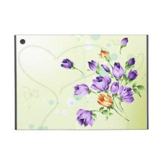 Purple Flower Hearts Covers For iPad Mini