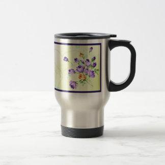 Purple Flower Hearts Coffee Mug