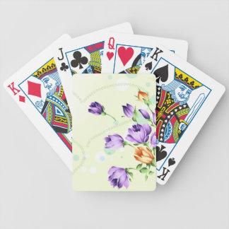 Purple Flower Hearts Poker Cards