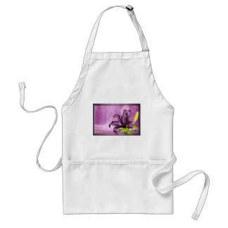Purple Flower Image Adult Apron