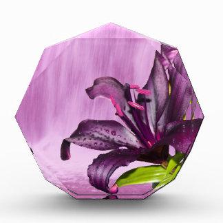 Purple Flower Image Acrylic Award