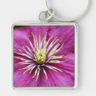 Purple flower in bloom during Spring Key Chain