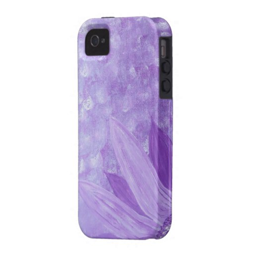 Purple Flower iPhone4 case Case For The iPhone 4