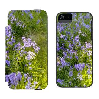 Purple Flower iPhone SE/5/5s Wallet Case