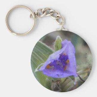 Purple Flower Keychains