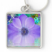 Purple Flower Keychain