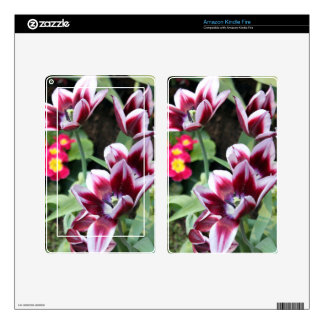 Purple Flower Kindle Fire Decals