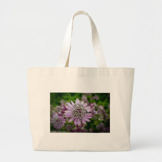 Purple Flower Large Tote Bag