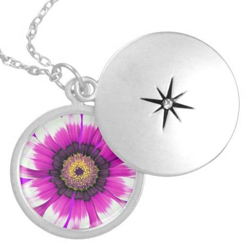 Purple Flower Lockets