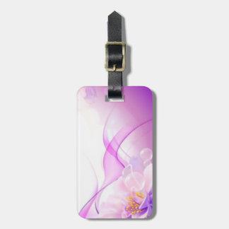 Purple Flower Luggage Tag