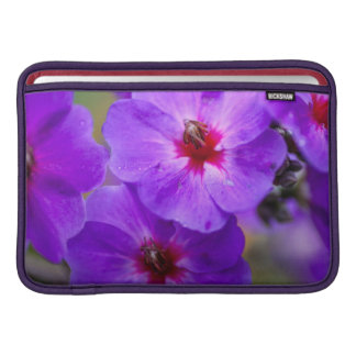 Purple flower MacBook sleeve